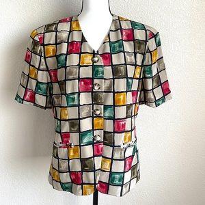 Jones New York 100% Silk Blazer